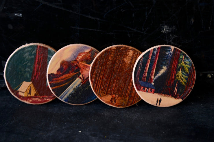 Tree Hugger Coasters from Flight Path Designs