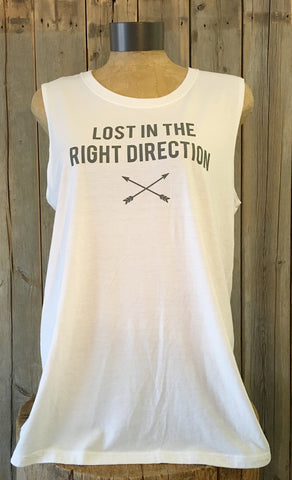 Lost In The Right Direction ~ Arrow and Axe Women's Tank