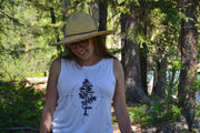 Tree and Compass ~ Arrow and Axe Women's Tank