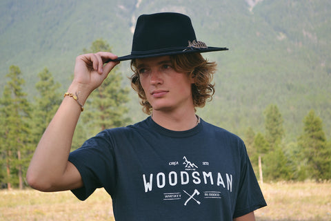 Woodsman ~ Arrow & Axe Short Sleeve (White print)