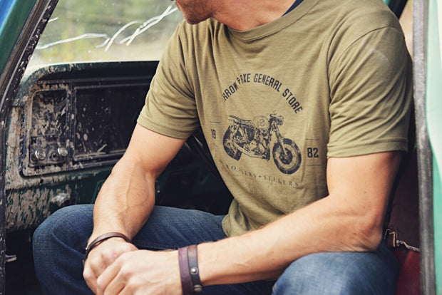 Vintage Bike ~ Arrow & Axe Short Sleeve