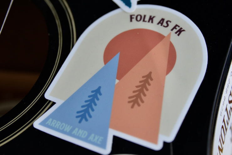 Folk as FK Sticker