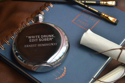 Write Drunk Edit Sober ~ Arrow & Axe Flask
