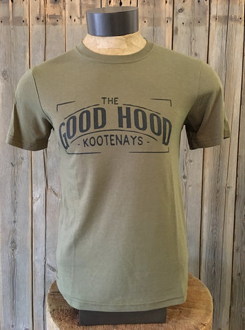 The Good Hood - Kootenays ~ Arrow & Axe Green Short Sleeve