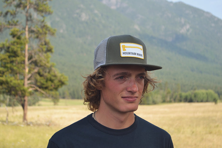 Mountain Made ~ Green Snap Back Hat