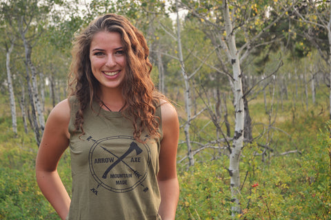 Arrow and Axe Logo ~ Green Women's Tank