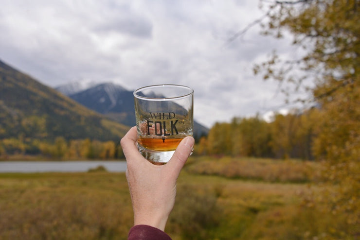 Wild Folk ~ Arrow and Axe Whiskey Glass