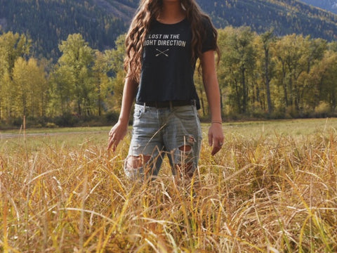 Lost In The Right Direction ~ Arrow and Axe Women's T-Shirt
