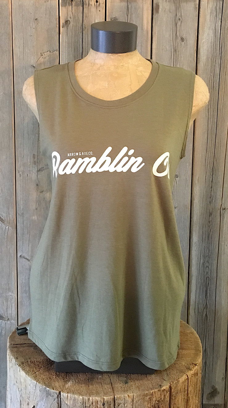 Rambling On ~ Arrow and Axe Women's Tank