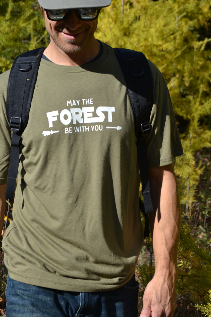 May The Forest Be With You ~ Arrow & Axe Surplus Green Short Sleeve