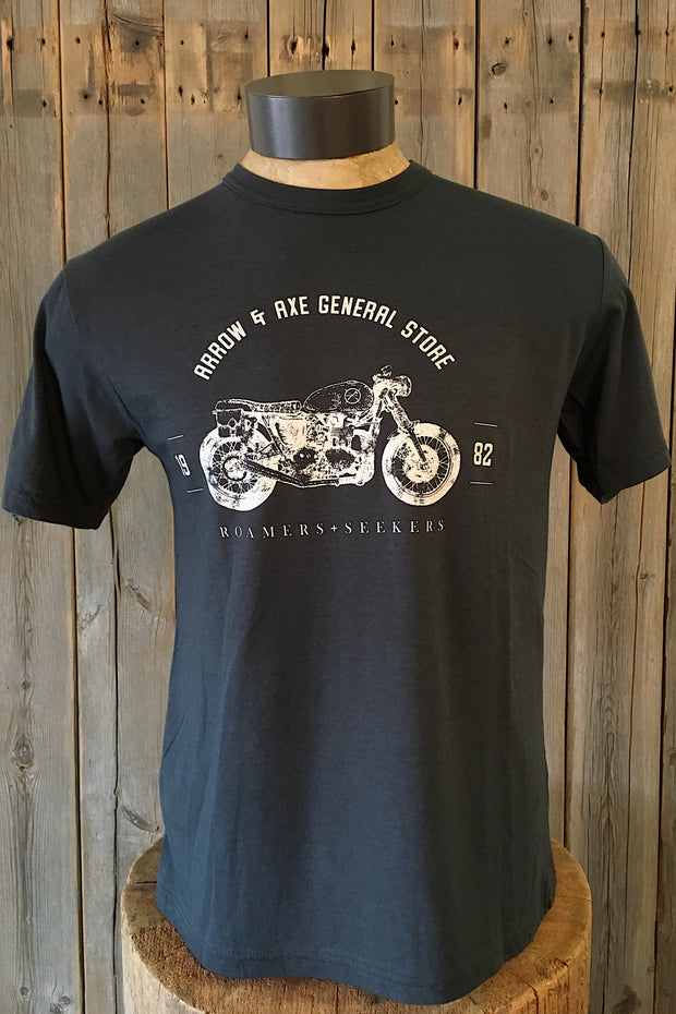 Vintage Motor Bike ~ Arrow & Axe Short Sleeve
