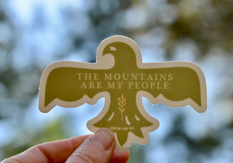 The Mountains are My People Sticker