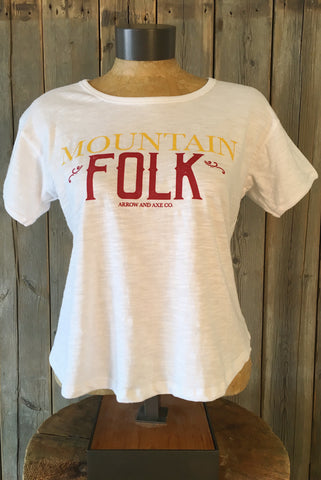 Mountain Folk ~ Arrow and Axe Women's T-Shirt