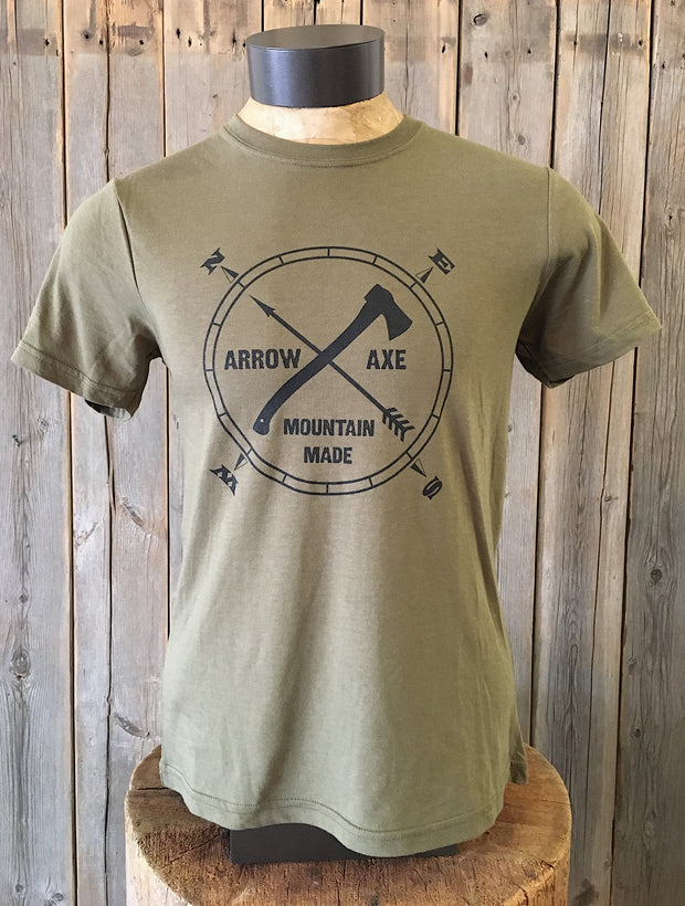Arrow and Axe Logo ~ Surplus Green Short Sleeve