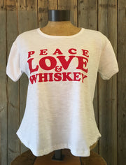 Peace, Love & Whiskey ~ Arrow and Axe Women's T-Shirt