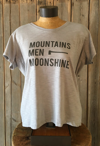 Mountains, Men, Moonshine ~ Arrow and Axe Women's Comfort Shirt