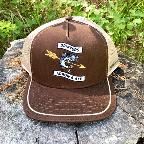 Drifters Fish Hat - Brown
