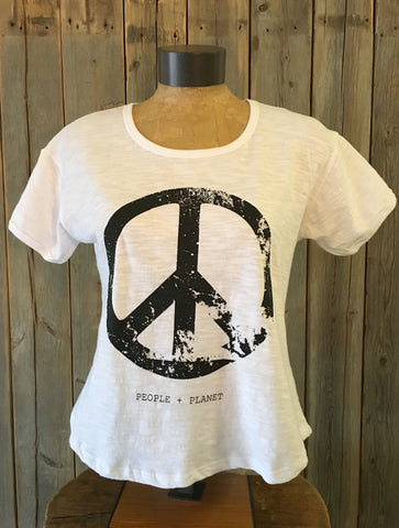 Peace, People, Planet ~ Arrow and Axe Women's T-Shirt