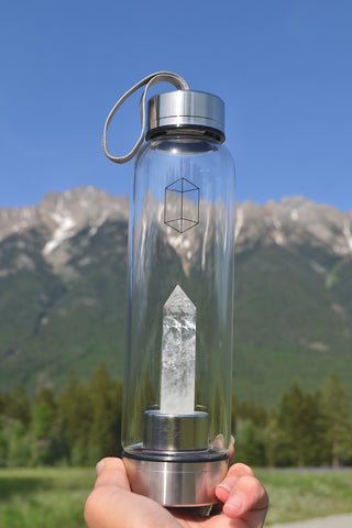 Crystal Water Bottle ~ Clear Quartz
