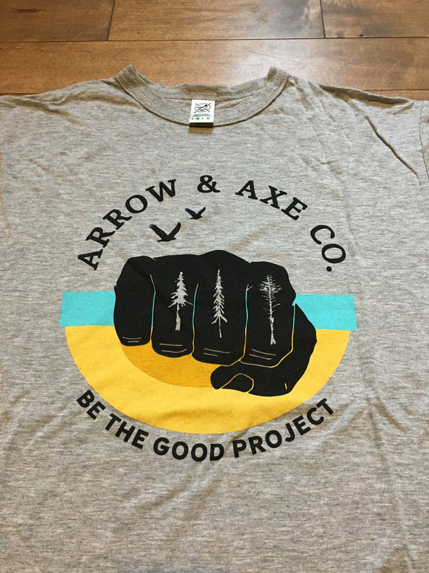 Be The Good Project - Fist pump ~ Arrow and Axe Short Sleeve