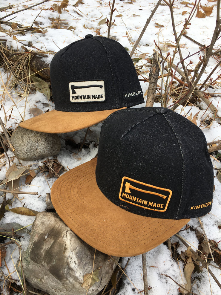 Mountain Made ~ Black Denim with tobacco suede brim