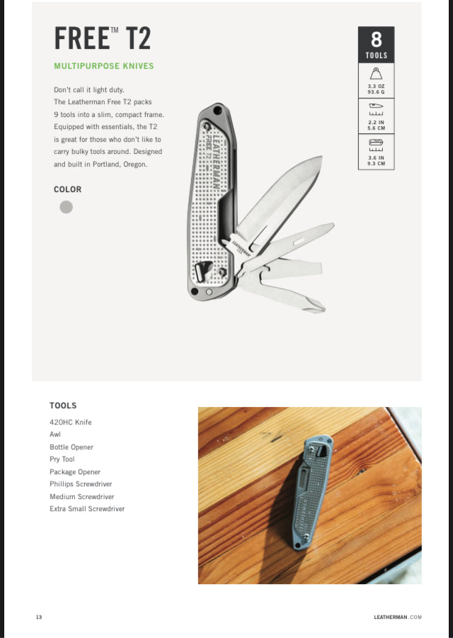 Leatherman Free Series T2