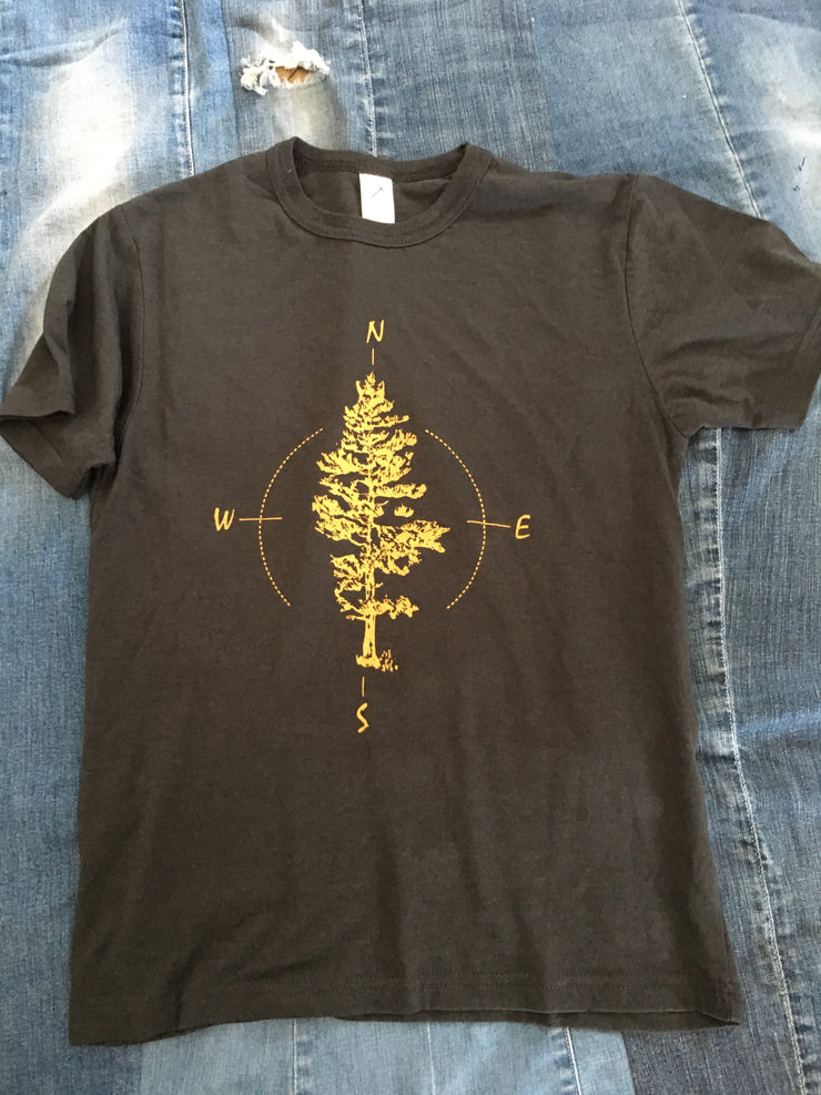 Tree and Compass  ~ Mens Short Sleeve
