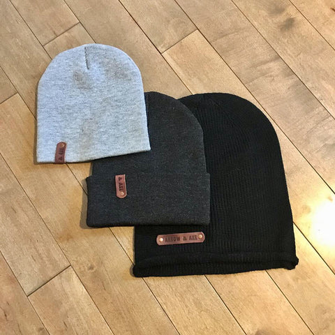 Toques - Arrow and Axe Leather branded patch