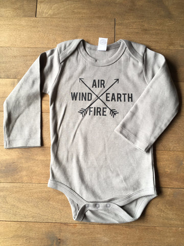 Infant Onesie - Air Wind Earth Fire