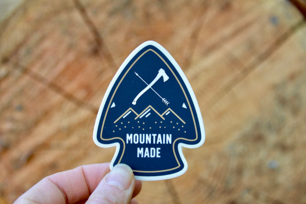 Mountain Made Arrowhead Sticker