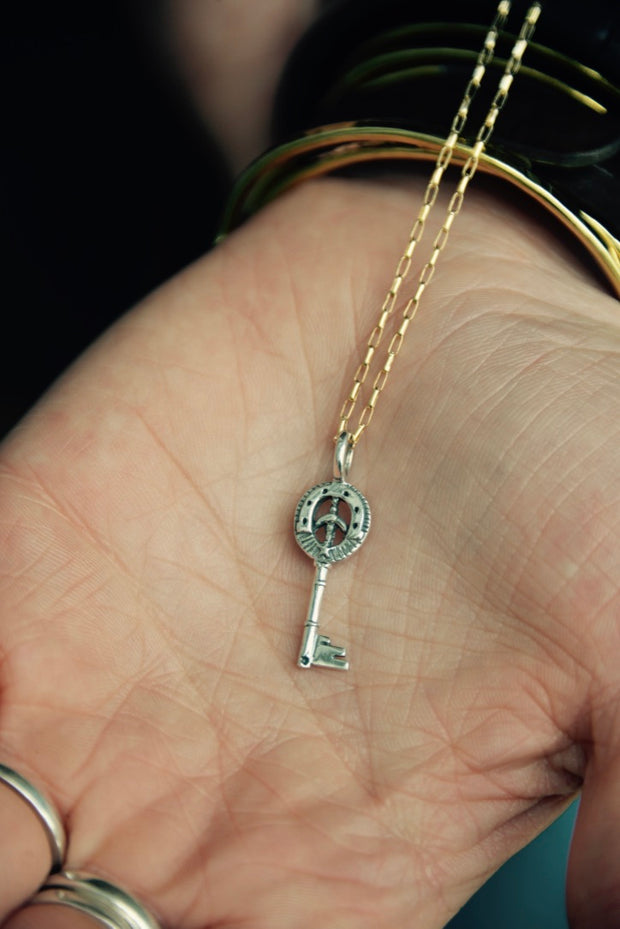 Key to the Stars Sterling Silver