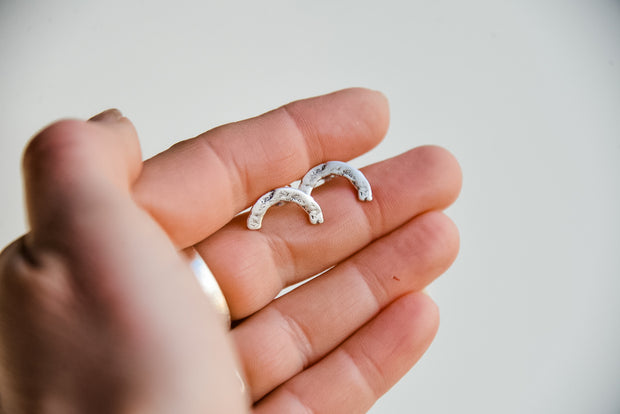 Arch Studs Sterling Silver