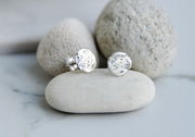 Full Moon Stud Earrings Sterling Silver