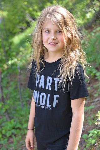 Part Wolf ~ Kids and Youth Shirt T-shirt