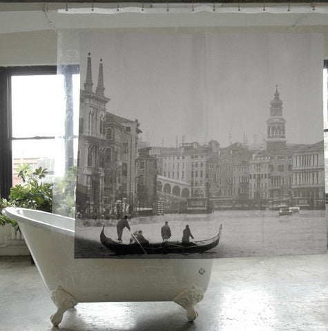 Venice PEVA Shower Curtain