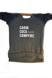 Arrow and Axe: Cabins, Coco, Campfire Sweatshirt