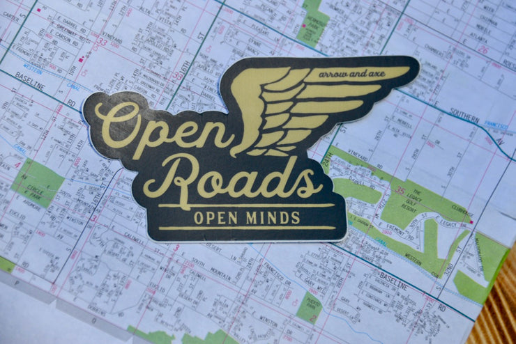 Open Roads, Open Minds Sticker