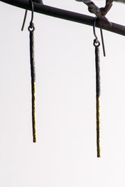 Gold & Oxidized Silver Dangling Bar