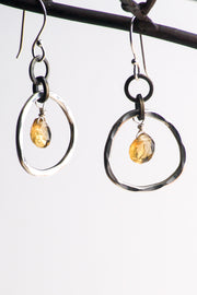Gia Whiskey Quartz Earrings