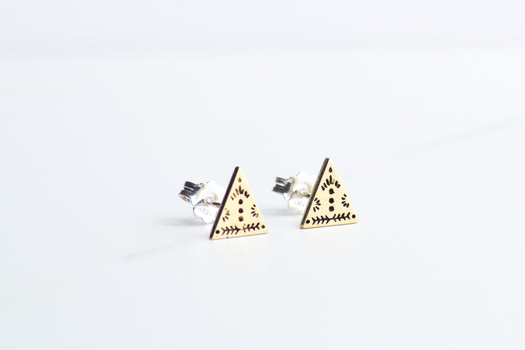 Gold Arrowhead Studs