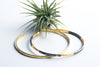 Gold plated & Oxidized Sterling Silver  Bangle