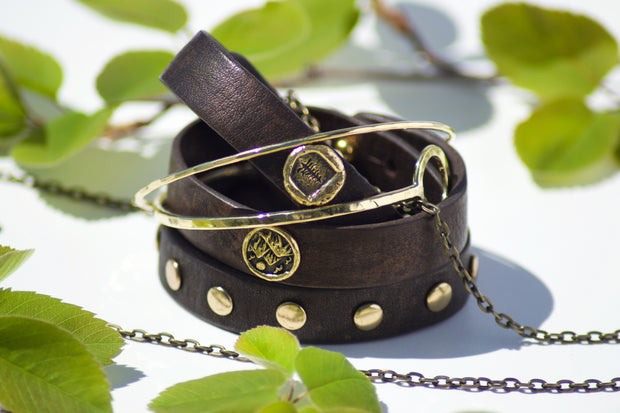 Stand Tall Leather Bracelet