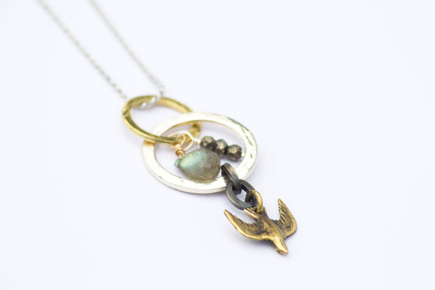 Gold Sparrow Labradorite Necklace