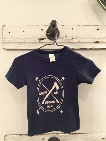 Arrow and Axe Logo ~ Grey Kids and Youth Shirt