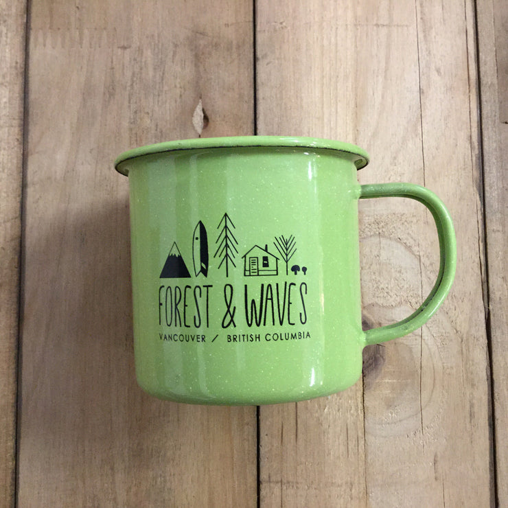 Forest & Waves Tin Mug