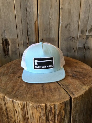 Sea Blue Arrow and Axe Snap Back Cap