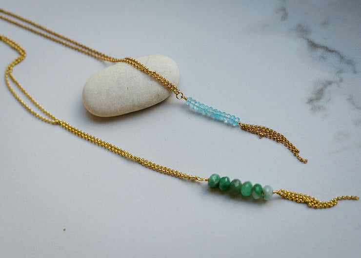 Aquamarine Minimal Necklace