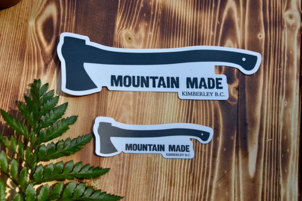 Mountain Made Axe Sticker