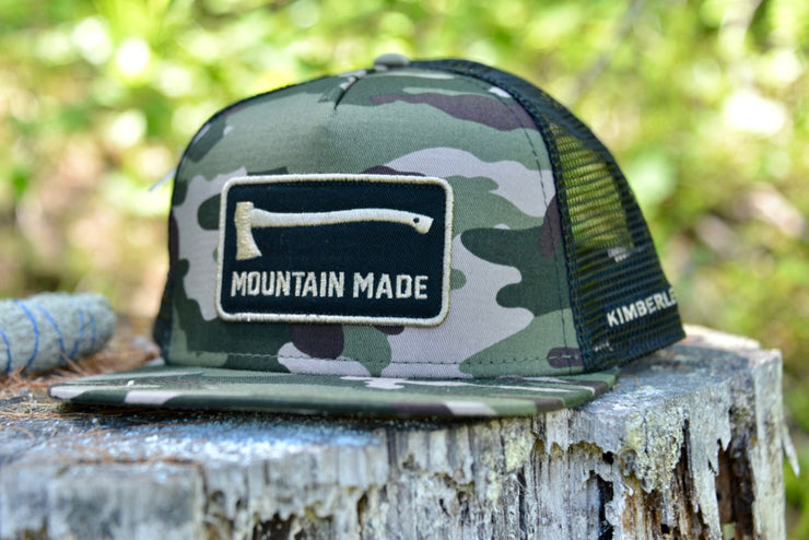 Mountain Made Camo Half Snap Back Hat