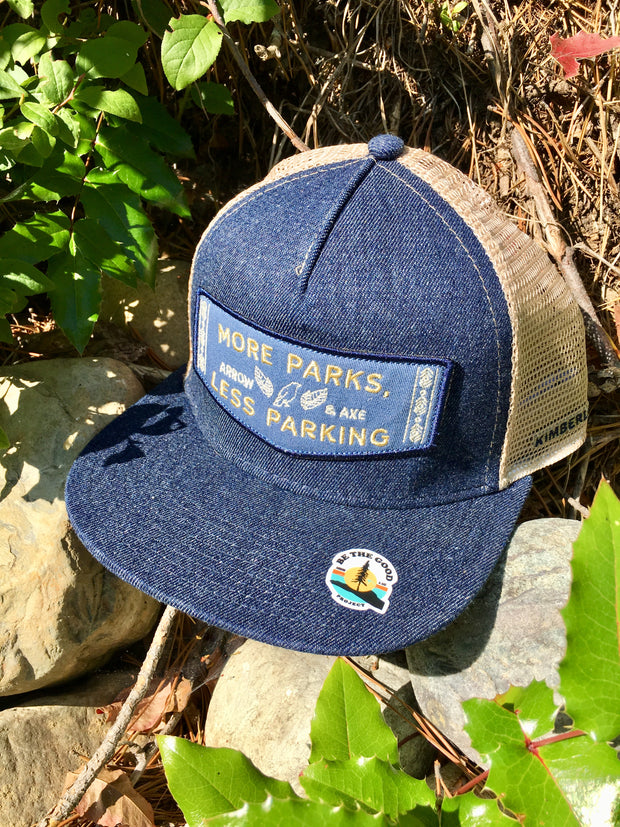 More Parks, Less Parking Truckers Hat Denim